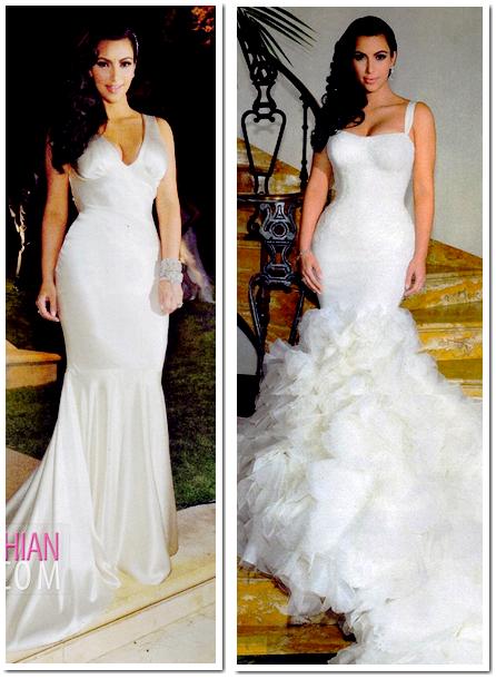 Kim Kardashian : Découvrez sa robe de mariée et ses robes dafter ...
